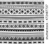 seamless ethnic pattern. black...   Shutterstock .eps vector #472487737