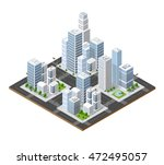 isometric perspective 3d city... | Shutterstock .eps vector #472495057