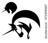 unicorn profile design   black... | Shutterstock . vector #472509007