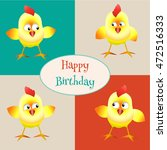 vector card happy birthday with ... | Shutterstock .eps vector #472516333