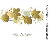 autumn card with gold leaves.... | Shutterstock .eps vector #472520977