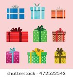 gift box birthday set present...   Shutterstock .eps vector #472522543