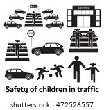 safety of children in traffic.... | Shutterstock . vector #472526557