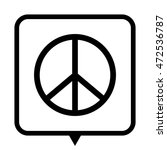 peace sign   black vector icon  ... | Shutterstock .eps vector #472536787