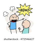 anger management. a hand drawn... | Shutterstock .eps vector #472546627