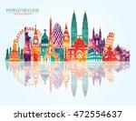 world skyline. travel and... | Shutterstock .eps vector #472554637