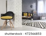 black and white interior ... | Shutterstock . vector #472566853