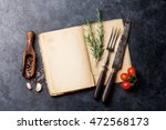 blank cookbook for your text ...   Shutterstock . vector #472568173