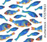 seamless vector pattern of blue ... | Shutterstock .eps vector #472570813