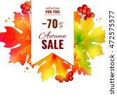 autumn sale  | Shutterstock . vector #472575577