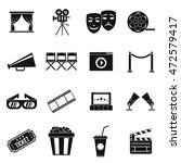 cinema icons set in simple... | Shutterstock . vector #472579417