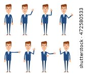 set of businessman characters... | Shutterstock .eps vector #472580533