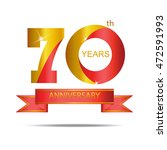 template logo 70th anniversary... | Shutterstock .eps vector #472591993