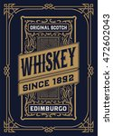 whiskey label with old frames | Shutterstock .eps vector #472602043