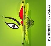 beautiful maa durga face on... | Shutterstock .eps vector #472602223