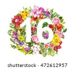 Floral Number   16  Sixteen ...