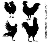 silhouettes of chickens and...