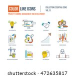 color line icons collection.... | Shutterstock .eps vector #472635817