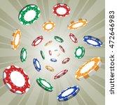 flying gambling chips | Shutterstock .eps vector #472646983