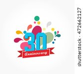 rousing colorful anniversary... | Shutterstock .eps vector #472662127