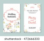 wedding set. romantic vector... | Shutterstock .eps vector #472666333