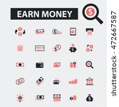 earn money icons | Shutterstock .eps vector #472667587