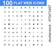 100 icon set. vector concept... | Shutterstock .eps vector #472671607