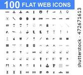 100 icon set. vector concept... | Shutterstock .eps vector #472671613