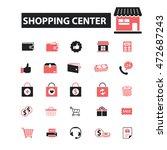 shopping center icons | Shutterstock .eps vector #472687243