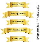 gold premium sales vector... | Shutterstock . vector #472692313