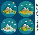 seasons landscape set. solitude ... | Shutterstock .eps vector #472698997