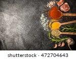 spice on dark background | Shutterstock . vector #472704643
