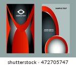 business card template  | Shutterstock .eps vector #472705747