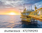 oil and gas central processing... | Shutterstock . vector #472709293