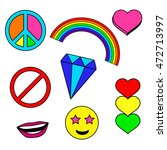 colorful patches collection... | Shutterstock .eps vector #472713997