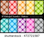 plaid pattern collection  ... | Shutterstock .eps vector #472721587