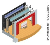 stage for theater scenes with... | Shutterstock .eps vector #472722097