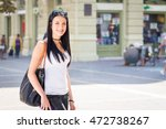 beautiful pretty girl walking... | Shutterstock . vector #472738267