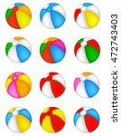 colorful beach ball collection... | Shutterstock .eps vector #472743403