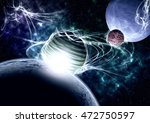 planets and nebula. | Shutterstock . vector #472750597