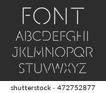 thin font. futuristic font.... | Shutterstock .eps vector #472752877