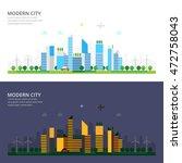 city landscape   day   night | Shutterstock .eps vector #472758043