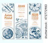 asian food banner set. vector... | Shutterstock .eps vector #472772983