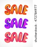 sale. set of bright and... | Shutterstock .eps vector #472784977