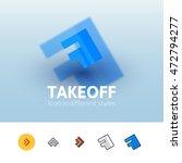 takeoff color icon  vector...