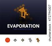 evaporation color icon  vector... | Shutterstock .eps vector #472794307
