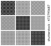 seamless line patterns set.... | Shutterstock .eps vector #472795687