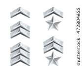 military rank signs. silver...