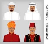 eastern men in traditional... | Shutterstock .eps vector #472818193