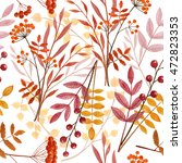 autumn bouquets seamless... | Shutterstock . vector #472823353